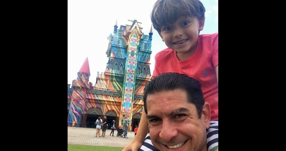 Bernardo e seu pai Adriano, do Rio de Janeiro (RJ)