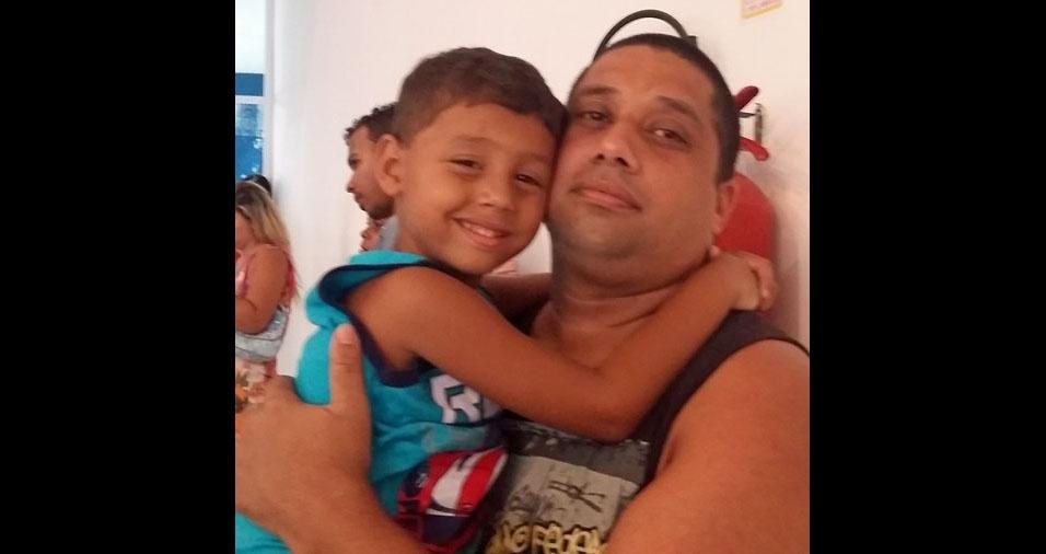 Welington é o papai do Kaue, de Belford Roxo (RJ)