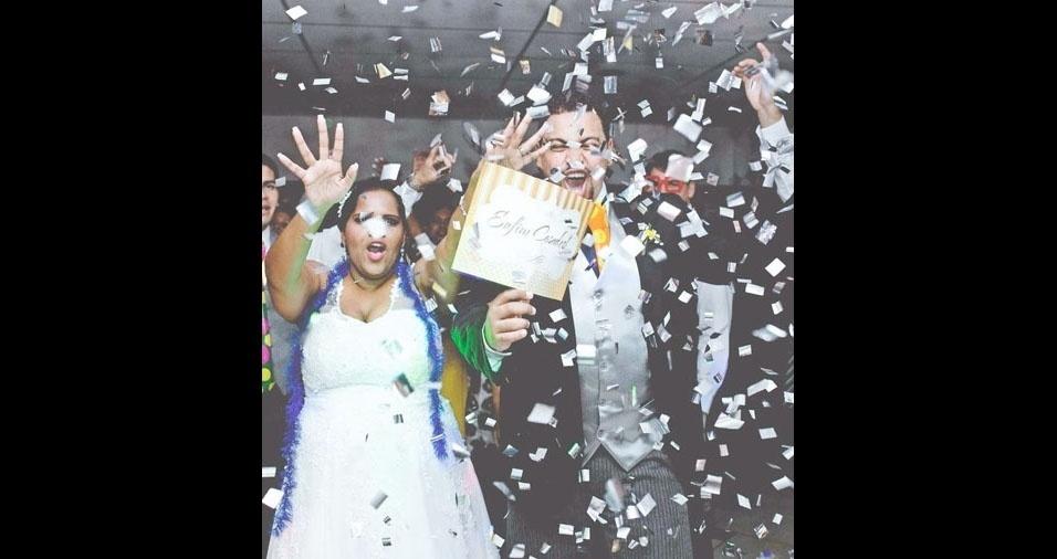 Bruna e Dilson se casaram no dia 6 de agosto de 2016, em Campo Grande (RJ)