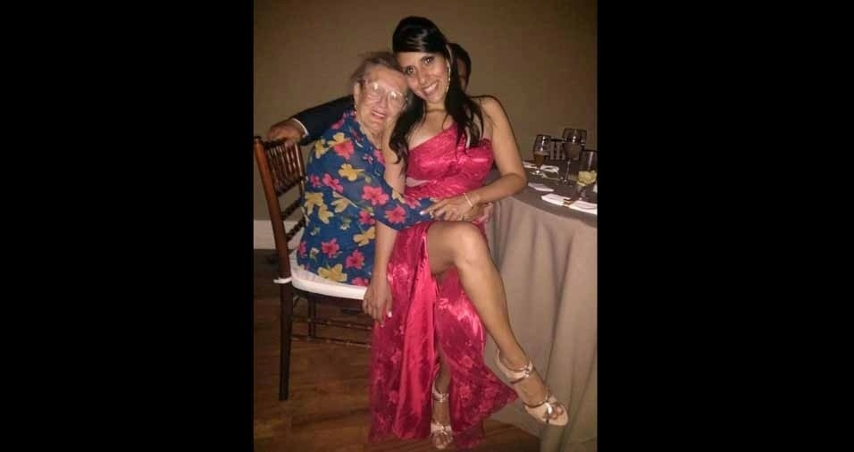 """Laís Scire Queiroz Miranda, de São Paulo (SP), enviou foto da avó Nelsina Scire e conta: """"Desde sempre ela morou comigo e com minha mãe que faleceu quando eu tinha 22 anos. Hoje sou casada e estou esperando meu primeiro(a) filho (a). Adorei a  homenagem de vocês às avós."""""""