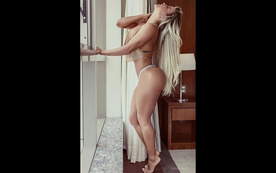 """19.set.2017 - A gata Dayse Brucieri disse que sempre teve sorte com homens na vida sexual. """"Já vi várias famosas revelando que broxam com elas, que intimidam e tal, mas comigo nunca aconteceu"""", conta"""