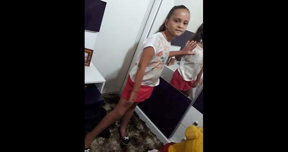 Francineide, de Costa Rica (MS), enviou foto da filha Maria Eduarda, de cinco anos