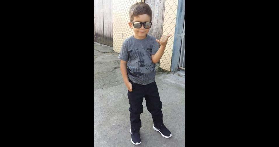 Chaliane, de São Vicente (SP), enviou foto do filho Ryan Kelven