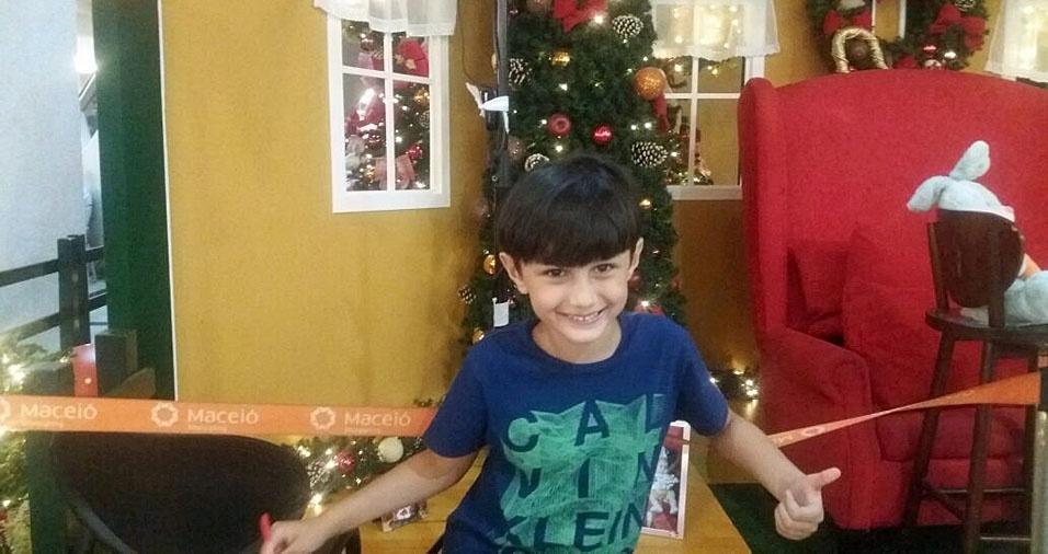 Vovô Marcelo Peixoto, de Messias (AL), enviou foto do neto Gabriel Calheiros, em Maceió (AL)