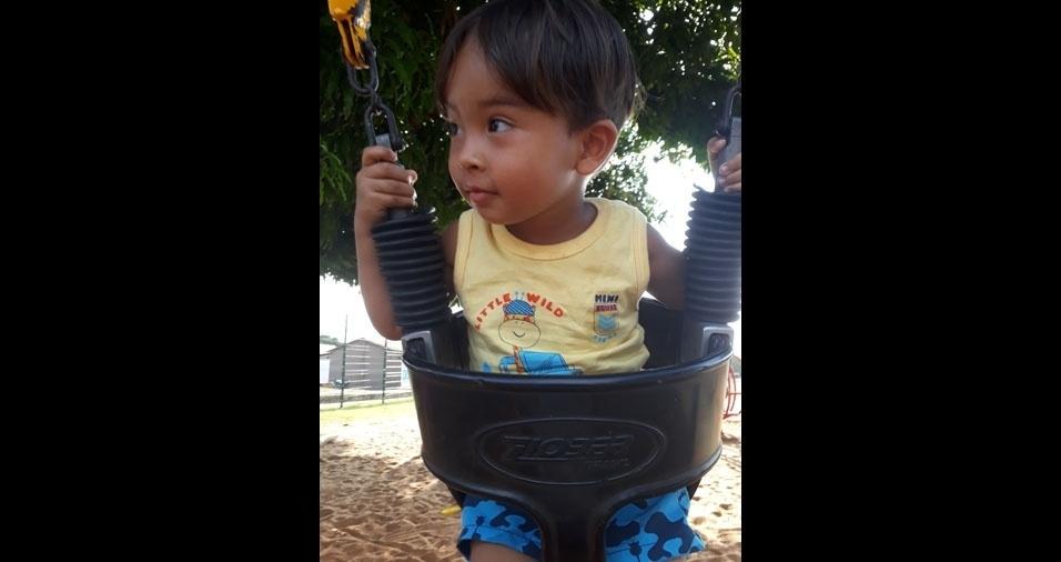 Lorena enviou foto do filho Bernardo