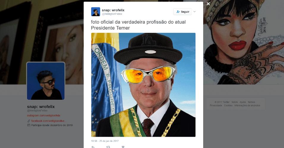 25.jan.2017 - Edição tenta rejuvenescer imagem do presidente Michel Temer