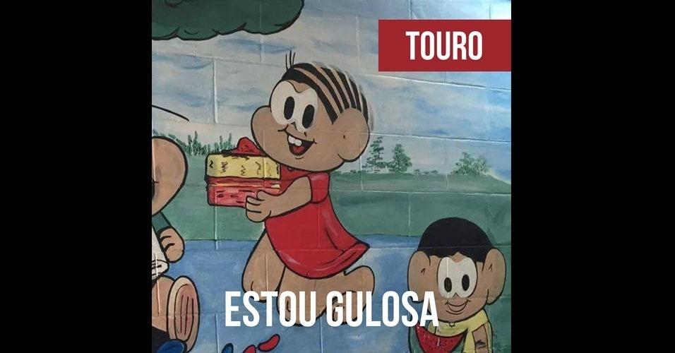 16.fev.2017 - A Mônica deformada de Touro