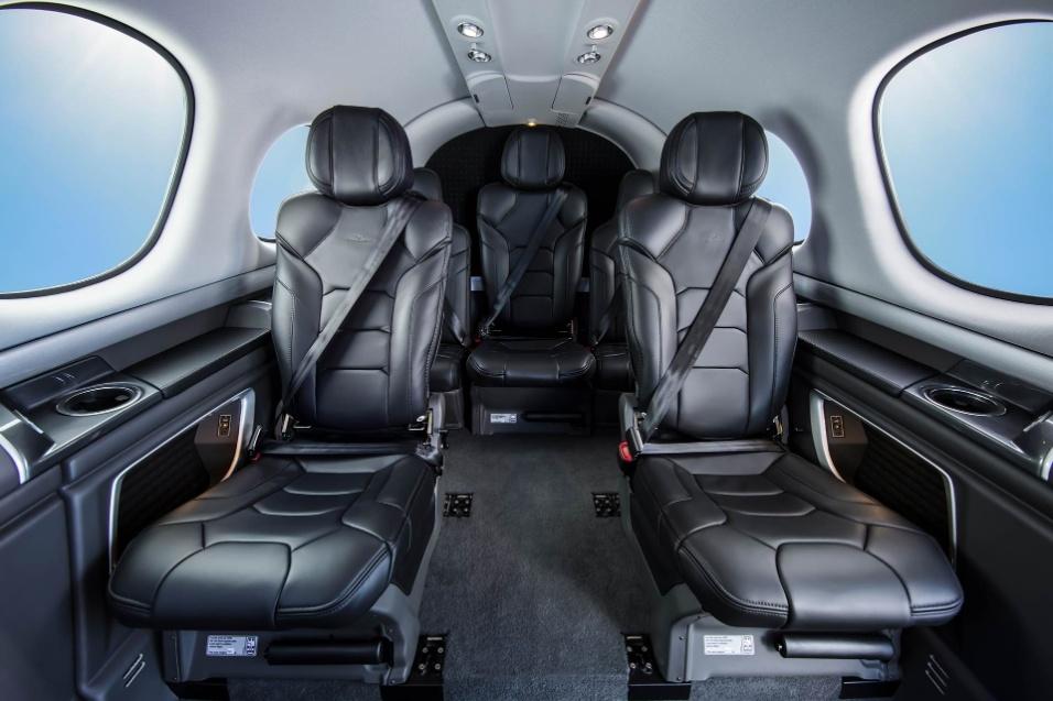30.mai.2017 - Foto de divulgação do Cirrus Vision Jet mostra outra opção de decoração da cabine