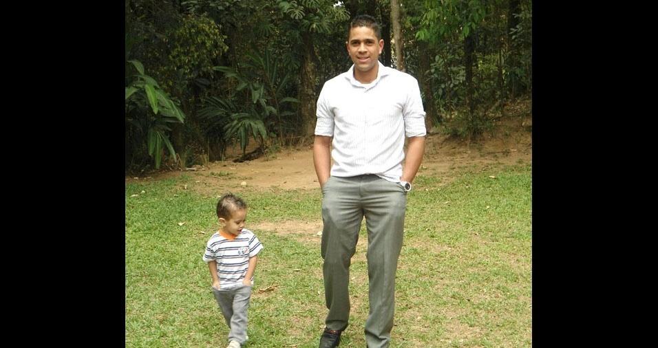 Arthur Lorenzo com o papai Douglas, de São Paulo (SP)