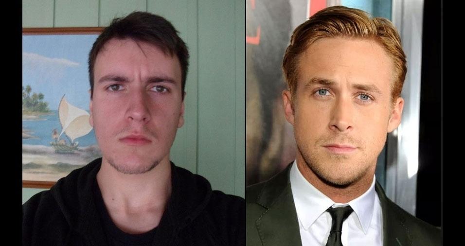 Henrique Arantes Fagundes, de Niterói (RJ), se acha parecido com a celebridade Ryan Gosling
