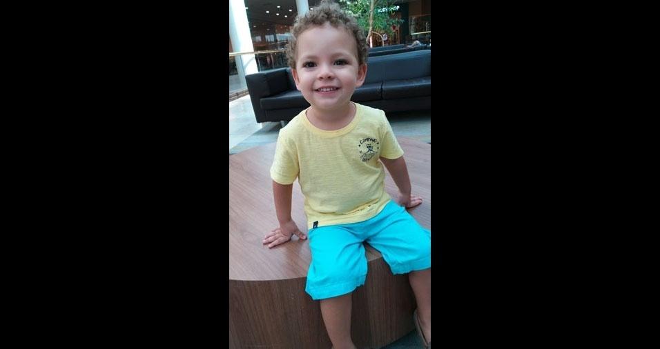 Gilvanildo Lima de Vasconcelos enviou a foto do filho Caio, de dois anos