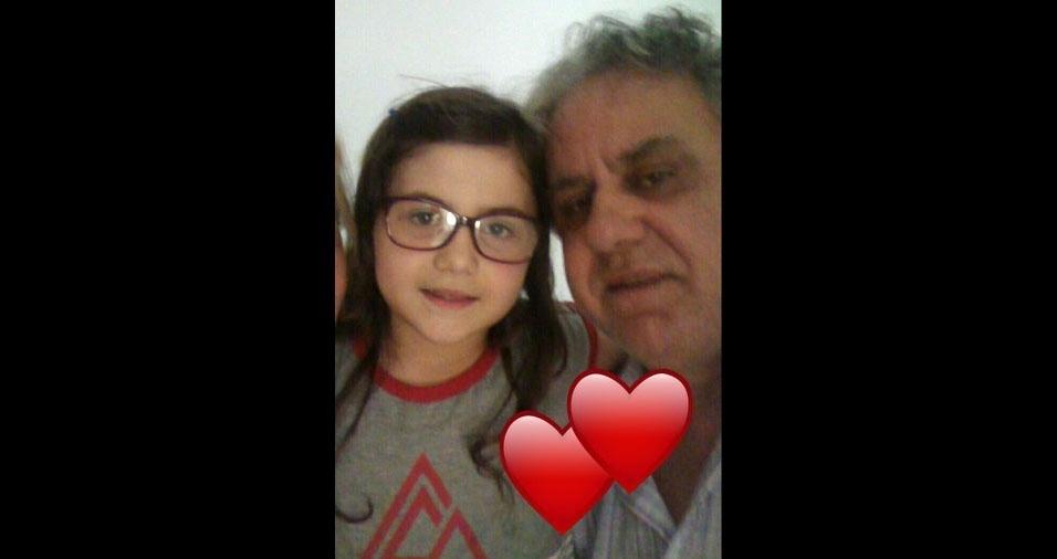 O papai Ataliba com a filha Walentina, de Cariacica (ES)