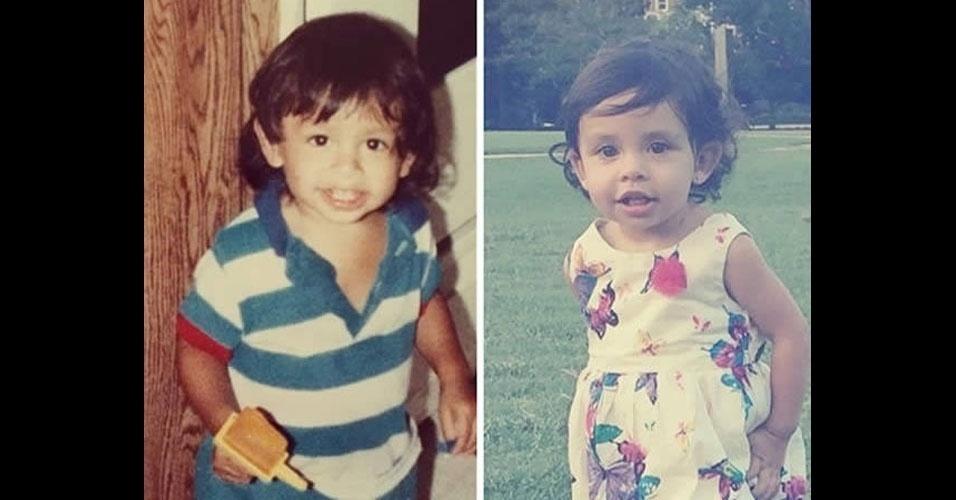 13. O pai está à esquerda, e a filha, à direita