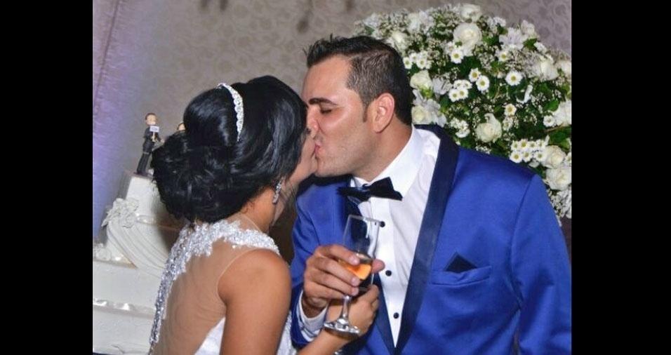 Graziele Bernardo Soares da Silva e Ricardo Luiz Soares da Silva se casaram no dia 22 de abril de 2017, em São José do Rio Pardo (SP)