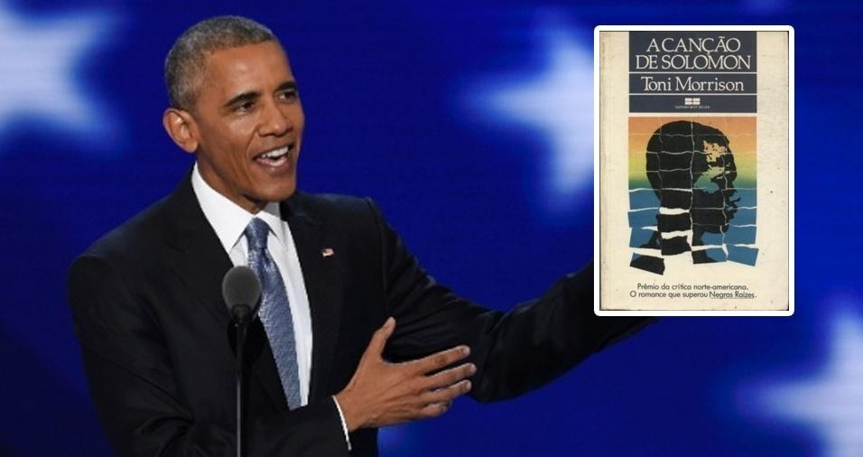 """18. Entre os vários livros prediletos de Barack Obama, um ávido leitor, está """"A Canção de Solomon"""", da escritora Toni Morrison, que trata de uma odisseia em busca das raízes negras"""