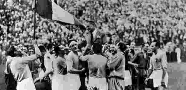 Itália ganha a Copa de 1934 - Reprodução/Fifa.com - Reprodução/Fifa.com