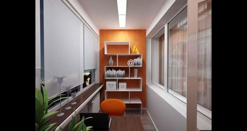 18. Neste modelo de escritório, a mesa foi posicionada de forma que dá até para receber clientes