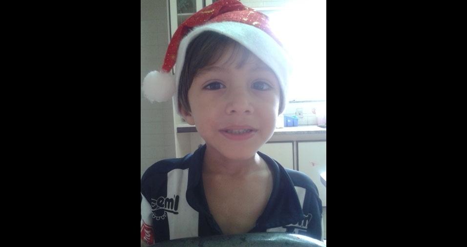 Luanda enviou foto do Rafael, de quatro anos, de Lagoa Santa (MG)