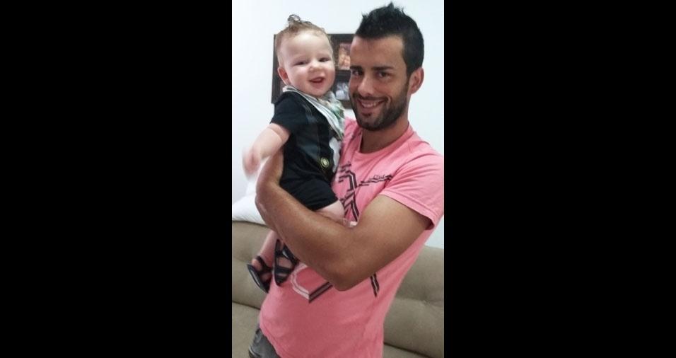 Papai Luan com o filho Thomas, de Nova Prata (RS)