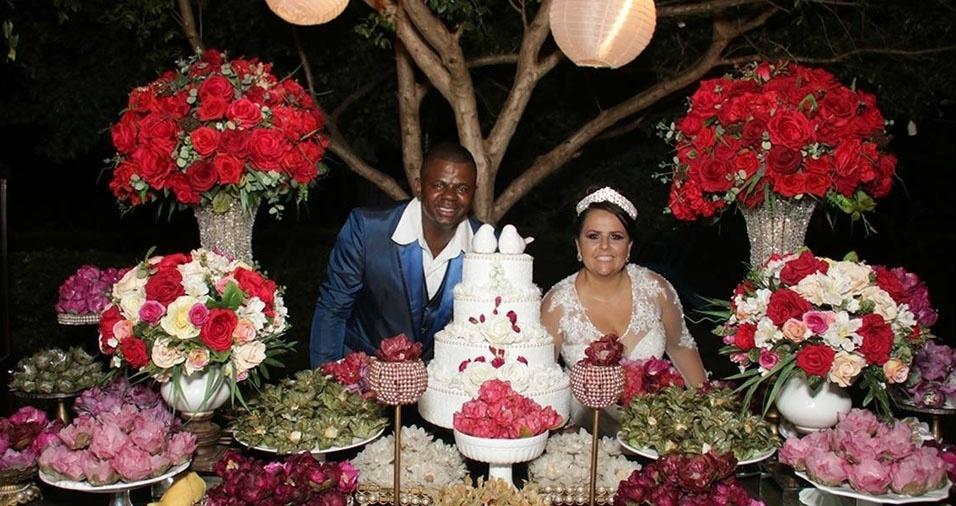 Ederson Junio Queiroga e Daniella Silva Melo se casaram no dia 12 de fevereiro de 2018, em Uberlandia (MG)