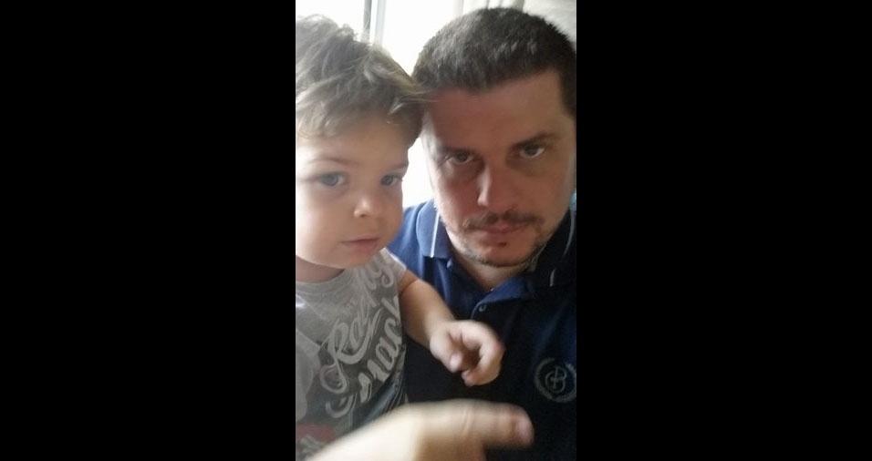 Fabio Lotto com seu filho Lorenzzo da Costa Lotto, de São Bernardo do Campo (SP)