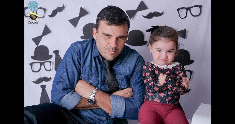 A Jeanne mandou foto do Rafael com a filha Laysa, Itaocara (SP)