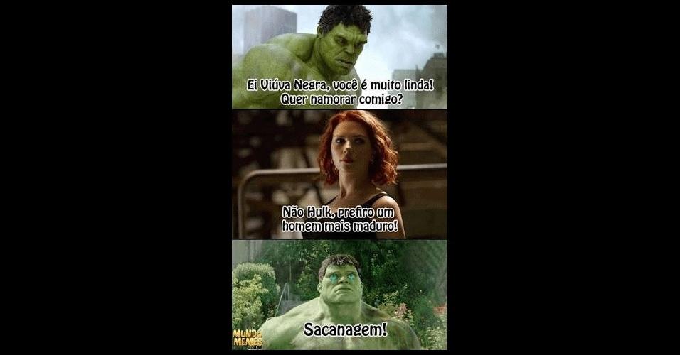 3.fev.2017 - Calma, Hulk! Leva um fora faz parte