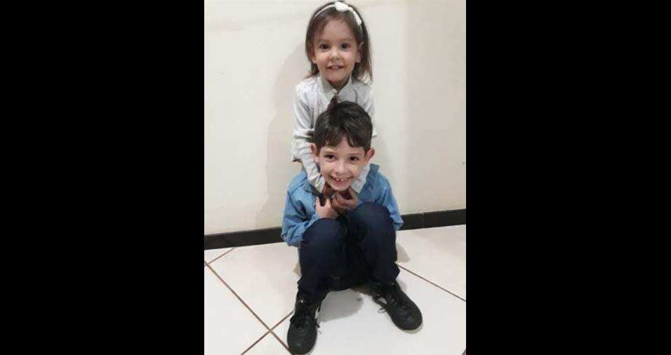 Joyce Mayara, de Montes Claros (MG), enviou a foto dos anjos de sua vida, Vicente, de sete anos, e Júlia, de dois anos