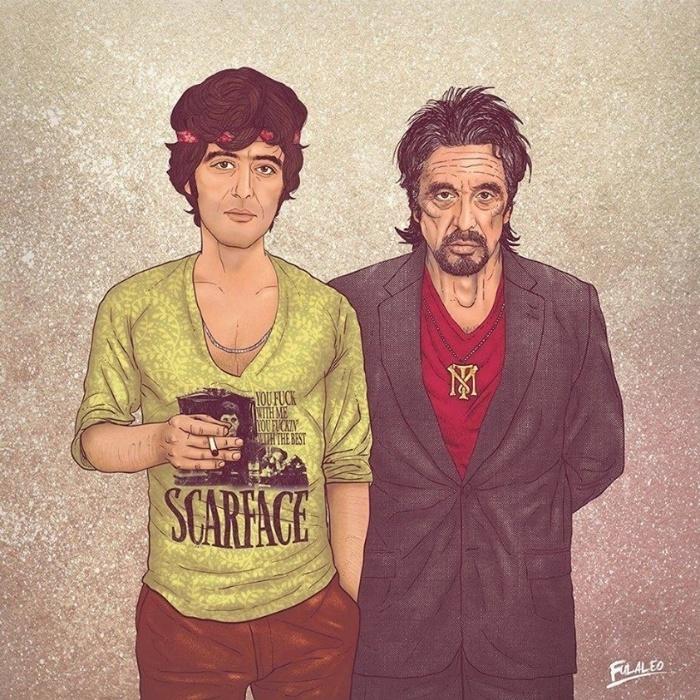 """Al Pacino, ator, famoso por interpretar dezenas de personagens marcantes na história do cinema, entre eles o traficante Tony Montana, em """"Scarface"""""""