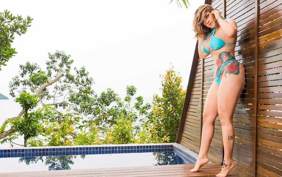 """5.fev.2017 - Bianca Costa sonha em vencer a """"Casa das Pimentinhas"""". A ganhadora do reality será capa da revista Sexy de abril"""