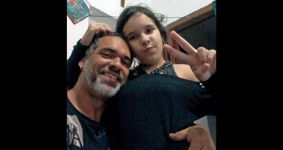 Pietra com o papai Marcos, de São Paulo (SP)
