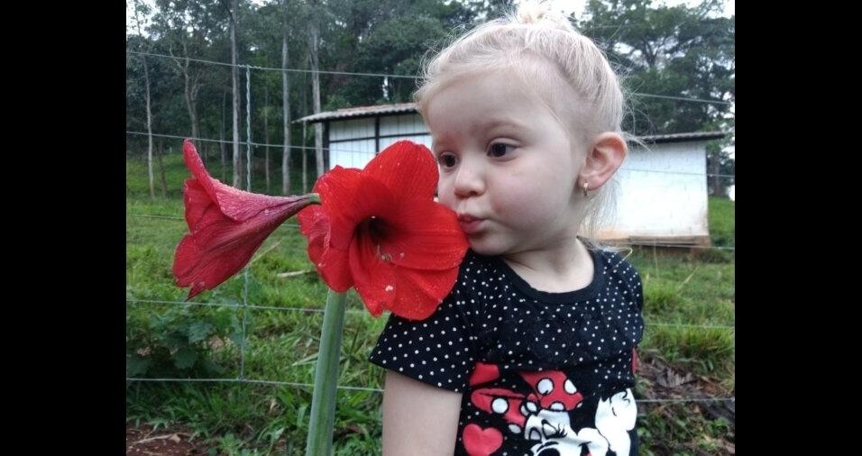 A Sofia, filha da Suze e do Verley, tem três anos, e mora em Silvianópolis (MG)