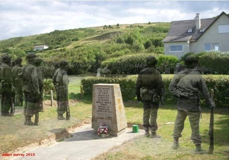 24.nobv.2015 - Homenagens são feitas no primeiro cemitério norte-americano em solo francês
