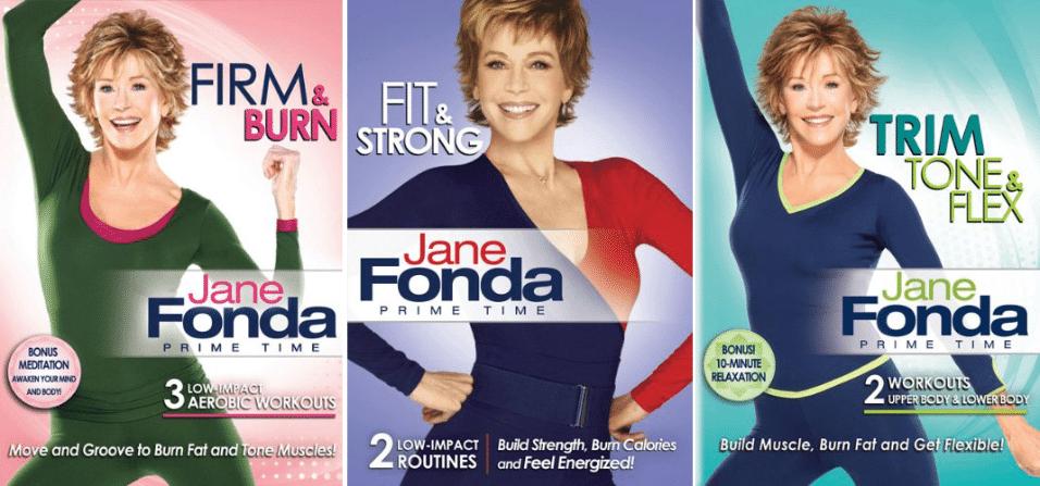 2010 - Sucesso nas décadas de 1980 e 90, Jane Fonda lança novos vídeos com rotinas de exercícios, agora em DVD