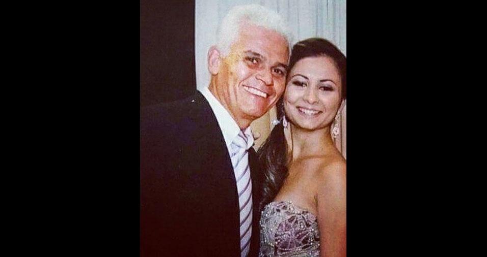 Ana Paula e o papai Durval, de São João da Boa Vista (SP)