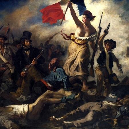 """O quadro de Eugène Delacroix """"A Liberdade Guiando o Povo"""" - Wikimedia"""