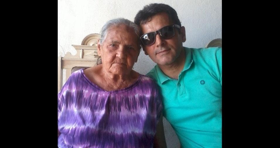 João Batista com a mamãe Sebastiana, de Natal (RN)