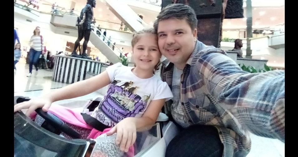 Papai Frederico e sua filha Manuela, de Santos (SP)