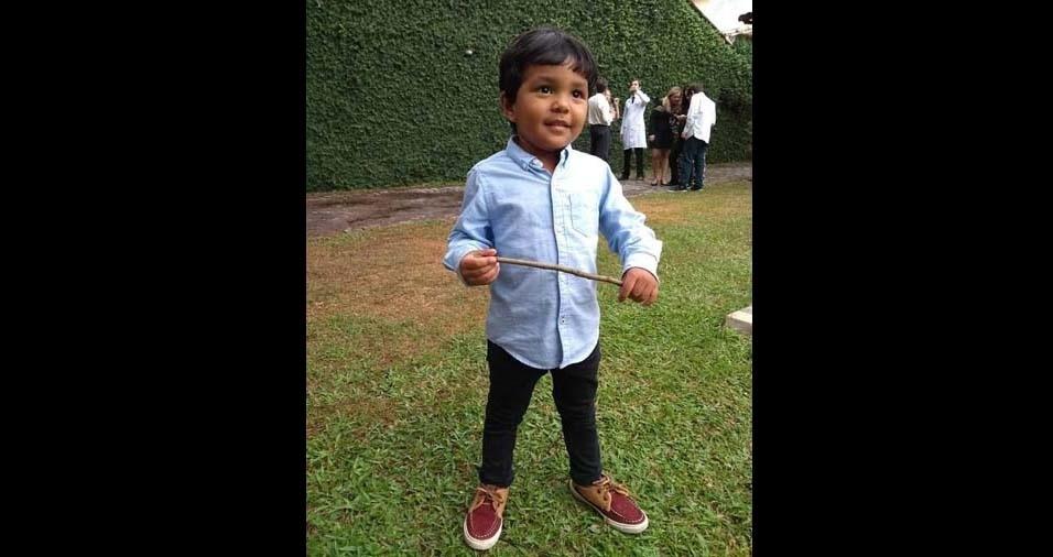 Luiz Toshio enviou foto do filho Pedro, de Itaguaí (RJ)