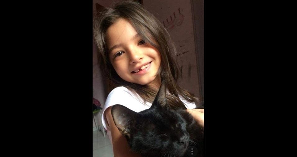 De Campo Grande (MS), a Ana Márcia de Oliveira enviou foto da filha Marina Bertolez Honda