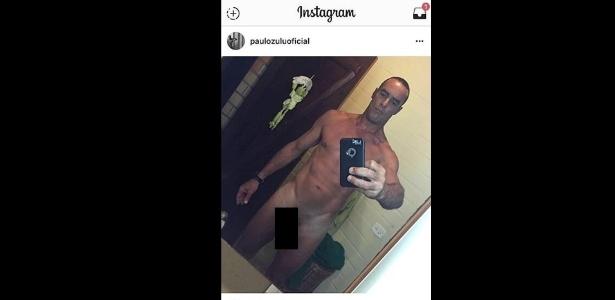"""O ator e modelo Paulo Zulu deu o que falar com uma """"nude"""" postada em sua conta do Instagram - Reprodução"""