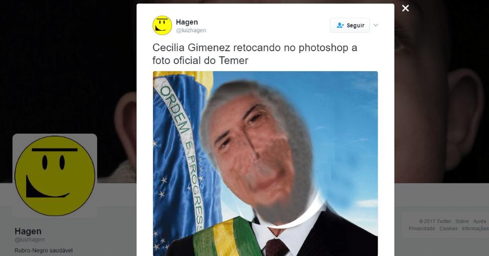 """25.jan.2017 - Internautas lembraram do caso da mulher que """"restaurou"""" quadro"""