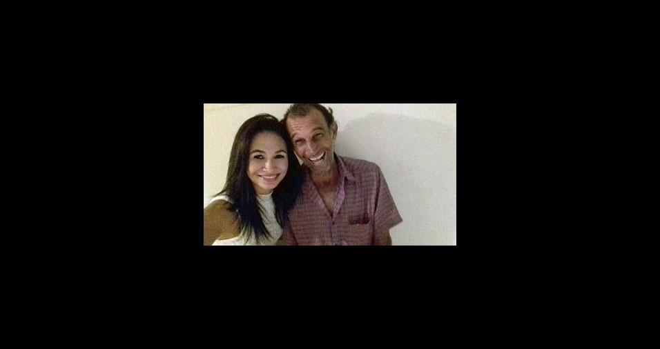 Bruna Rafaela e seu pai Claudio Moreno, de Apucarana (PR)