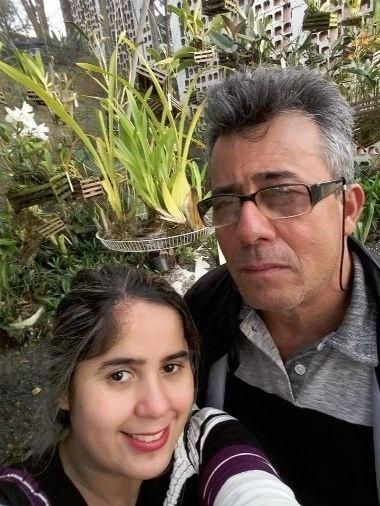 A Izadora Dias Gomes, de Guarulhos (SP), homenageou o papai Luiz Gonzaga Gomes