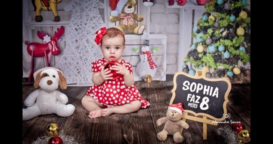 Sophia, de Porto Feliz (SP), em foto enviada pelos pais Fabricio Correa Luis e Laudiceia Fernandes Barradas Luis