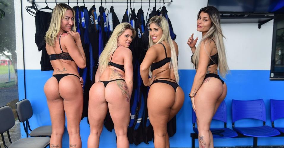 49053cff8 Só de lingerie! Candidatas do Miss Bumbum Brasil saltam de paraquedas no  interior de SP