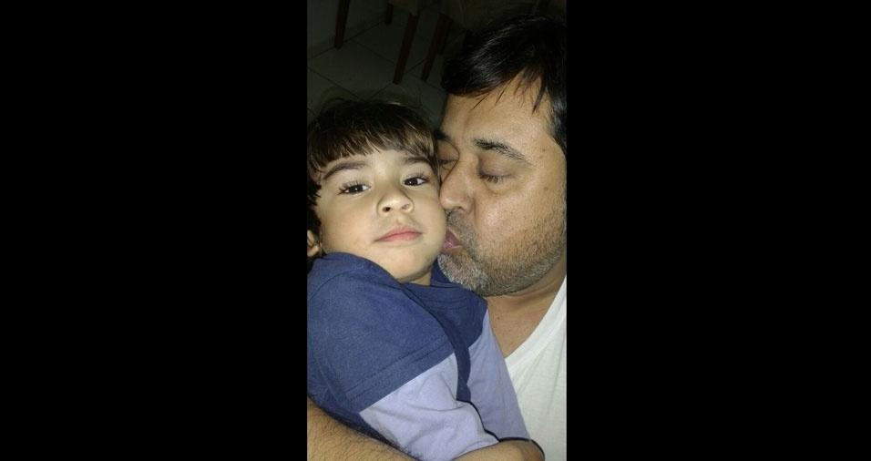 Daniel com o pai Rogerio