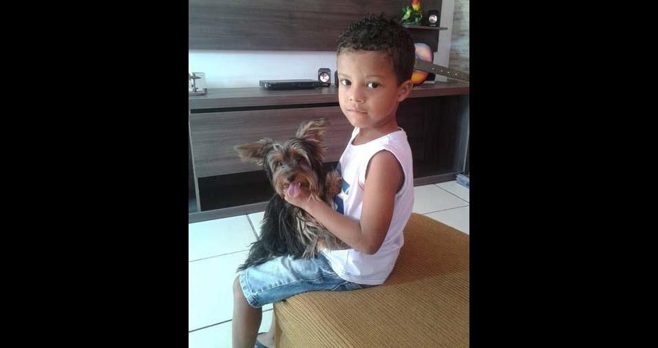 Zélia, de Sarzedo (MG), enviou foto do filho Lucas Gabriel