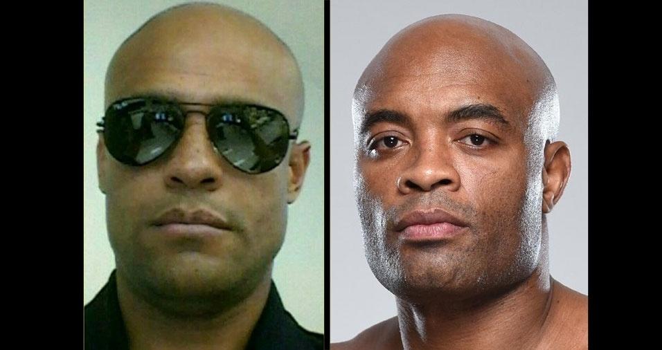 Fábio Franco Vaz, de São Roque (SP), se acha parecido com Anderson Silva
