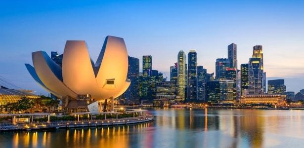 Complexo da Marina Bay é um dos principais pontos turísticos de Cingapura
